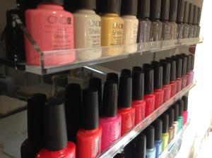 CND Shellac shelves