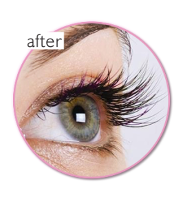 after eyelash extension
