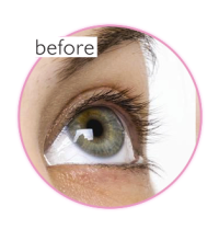 before eyelash extension