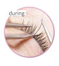 during eyelash extension